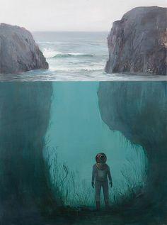 Searching original painting by Jeremy Miranda