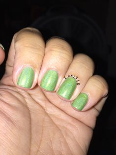 Since my hubby likes all things green here is Cupcake Polish 'Instant Re-Leaf'