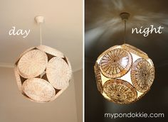 My Pondokkie: PAPER PLATE HOLDER LAMPSHADE