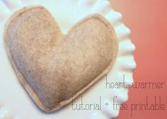 Little Birdie Secrets: heart-warmer tutorial {and a printable!}