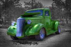 Green Machine / Green chevrolet pick up at the 2015 Guffey Car Show.