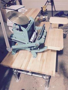 Craftsmen superior x press Printing Press, Drafting Desk, Letterpress, Craftsman, Places, Prints, Image, Furniture, Home Decor