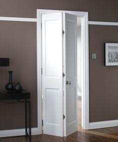 B&Q Avesta 4 Panel Primed Bi-fold Internal Door NAT20BIAD4 White
