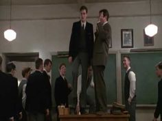 Dead Poets Society (1989), by Peter Weir. With Robin Williams and Robert Sean Leonard. Screenplay by Tom Schulman.
