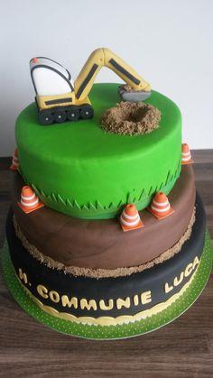 Graafmachine taart / Excavator cake