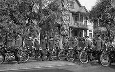 1925 - motor inspection by Chief R. Lee Heath (those are Indian motorcycles)