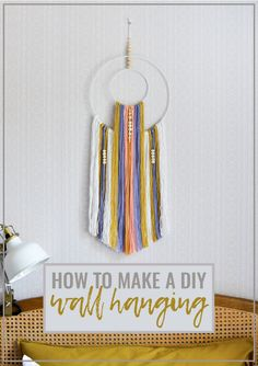 DIY: How to Make a Boho Wall Hanging with Wooden Beads