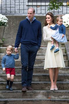 Kate Middleton wears a white See by Chloé dress with an Acne leather belt and grey Monsoon Fleur wedge heels with her family at a children's party in Victoria.