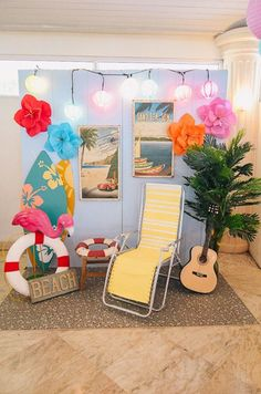 Put your sunnies on because Kaila& Hawaiian party is bringing us closer to the beach! This stunning luau celebration is just perfect for the summ. Aloha Party, Hawaiian Luau Party, Hawaiian Birthday, Luau Birthday, Tiki Party, Festa Party, Hawaiin Theme Party, Party Drinks, Party Party