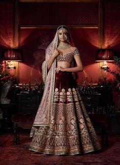 """""""Firdaus"""" by Sabyasachi Indian Bridal Outfits, Indian Bridal Lehenga, Indian Bridal Wear, Indian Dresses, Bridal Dresses, Bridal Lenghas, Wedding Gowns, Salwar Kameez, Churidar"""
