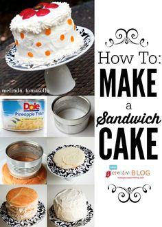 How To Make a Sandwich Cake | baby shower food | bridal shower food | TodaysCreativeBlog.net