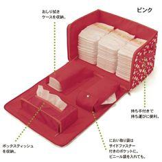 大容量バッグで、おむつ替えグッズを効率的に収納。