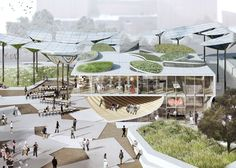 FAB Park - The City of Los Angeles - a design by OMA and landscape architects Mia Lehrer + Associates to transform a site in the Downtown area into a public park
