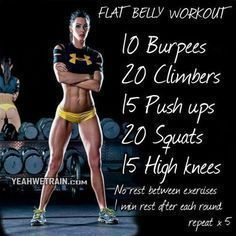 This one is a core burner for sure - working those abs! Crossfit style circut training for at home workouts. No equipment needed for this one. #athomeworkouts