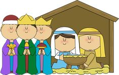 Nativity Scene with Wise Men clip art