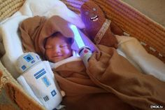 This infant is Strong in the Force! So stinking cute!