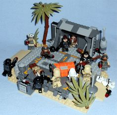 Lego - Star Wars Rogue One Diarama Various figures from all my collected Rogue One Lego sets