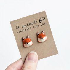 The cutest fox earrings #foxy