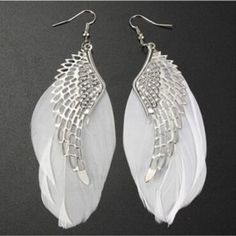 Find More Drop Earrings Information about Angel Wing Feather Dangle Female Earring Fashion Jewelry Brinco Silver Chandelier  Drop Long Earrings For Women Gilrs 2016 New,High Quality earring jewelry,China earrings pearls jewelry Suppliers, Cheap jewelry cards for earrings from ZheJiang YanKun on Aliexpress.com