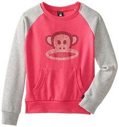 Big Girls' Rhinestone Julius Raglan Fleece Popover Sweatshirt