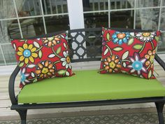 Indoor Outdoor Pillow by 12dozen on Etsy