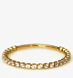 Gold Vermeil Pave Layering Ring