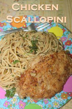 Chicken Scallopini Recipe - Seared Chicken with Lemon Butter Pasta