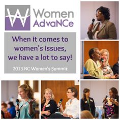 When it comes to women's issues, North Carolina women have a lot to say!