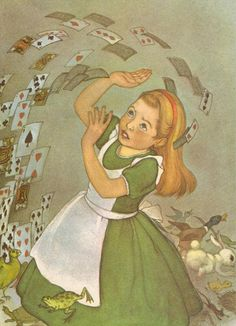 1950s Alice in Wonderland, Alice and the Playing Cards.