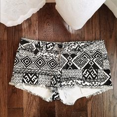 Tribal shorts In very good condition. Only worn a couple of times! Forever 21 Shorts Jean Shorts