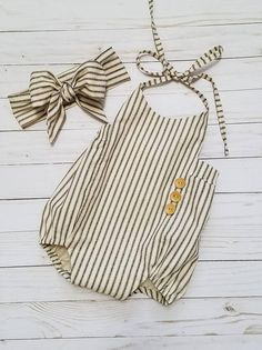 Baby Girls Boho Romper Set-Striped Romper-Girls Vintage style Romper-black and c. - Addilyn's Wardrob Baby Girls Boho Romper Set-Striped Romper-Girls Vintage style Romper-black and c. - Addilyn's Wardrobe Baby Girls, Baby Girl Romper, Baby Dress, Baby Baby, Baby Newborn, Toddler Girl, Baby Outfits, Kids Outfits, Newborn Outfits
