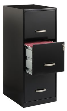 Office Designs 3 Drawer Black Steel File Cabinet - Overstock™ Shopping - The Best Prices on Office Designs Vertical File Cabinets 3 Drawer File Cabinet, Metal Storage Cabinets, Filing Cabinets, Office Cabinets, Cabinet Storage, Storage Shelves, Steel File, Do It Yourself Organization, Hanging File Folders