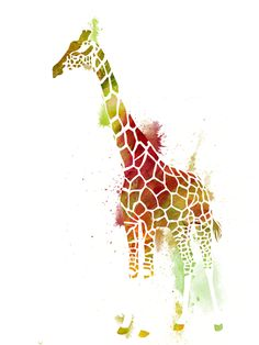 2011- Giraffe with spotted sky by Luwine on deviantART
