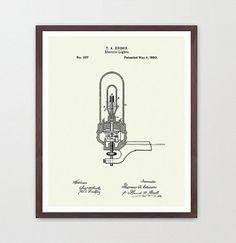 Light Bulb Patent   Edison  Thomas Edison  Edison Patent