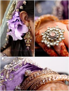 Kundan ring, earrings, bangles, Indian bridal jewellery