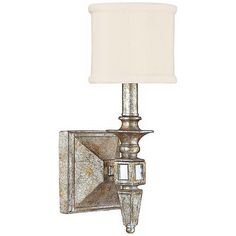 "Palazzo 5 1/4"" Wide Silver and Gold Leaf Wall Sconce"