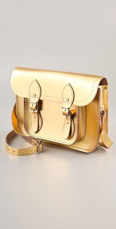 Gold Metallic Satchel from Cambridge Satchel Co.