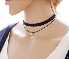Women choker long for black necklaces
