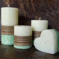 Fragrant Summer Honeydew Melon Pillar Candle Collection. You'll think that someone just cut open a ripe juicy honeydew melon when you smell this one. Buy one for the host of your next dinner party, holiday dinner party, or any other occasion.