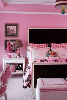 pink black and white teen s room rh pinterest com