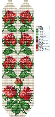 off loom beading techniques Beaded Cross Stitch, Cross Stitch Rose, Cross Stitch Flowers, Beaded Embroidery, Cross Stitch Embroidery, Hand Embroidery, Embroidery Patterns, Seed Bead Flowers, Beaded Flowers