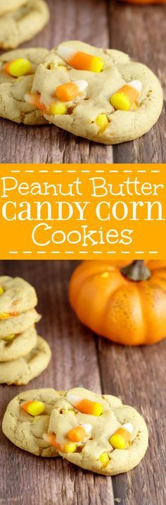 Peanut Butter Candy Corn Cookies take the rich creaminess of peanut butter and…