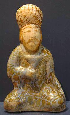 Seljuk Pottery/Ceramic Human Sculpture, Sculptures, Ancient Art, Ancient History, Timurid Empire, Persian Culture, Islamic Art, Art And Architecture, Pottery Art