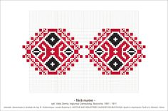 Semne Cusute: MOTIVE: (P3, M8) Bead Loom Designs, Bead Loom Patterns, Beading Patterns, Cross Stitch Patterns, Creative Embroidery, Folk Embroidery, Embroidery Patterns, Simple Cross Stitch, Knitting Charts