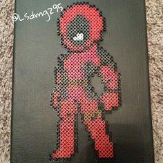 Deadpool perler beads by nerdy_studio