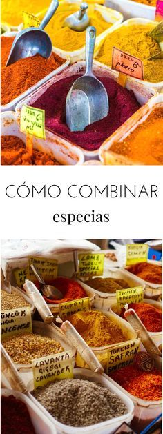 How to combine spices: Add flavor to your dishes - Tasty details Veggie Recipes, Mexican Food Recipes, Vegetarian Recipes, Cooking Recipes, Healthy Recipes, Common Spices, Latin American Food, Homemade Spices, Curry