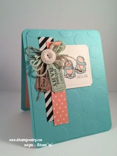 100% Perfect Precious Baby Card, That's the Ticket, Baby We've Grown, Stampin' Up!