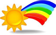 Rainbow and Sunshine Clip Art - Bing Images Sun Doodles, Mermaid Sleeve Tattoos, Image Symbols, Rainbow Images, Rainbow Clipart, Free Clipart Images, Rainbow Theme, Bing Images, Clip Art