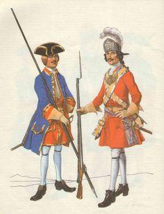 Рисунки Чернушкина Армия Петра
