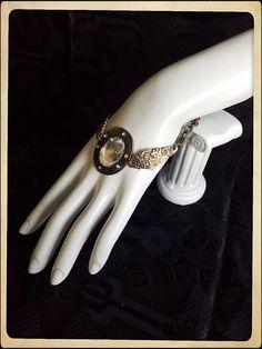 Handmade brass silver spoon bracelet